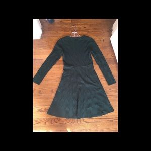 Jessica Howard Hunter Green Knit Dress Long Sleeve